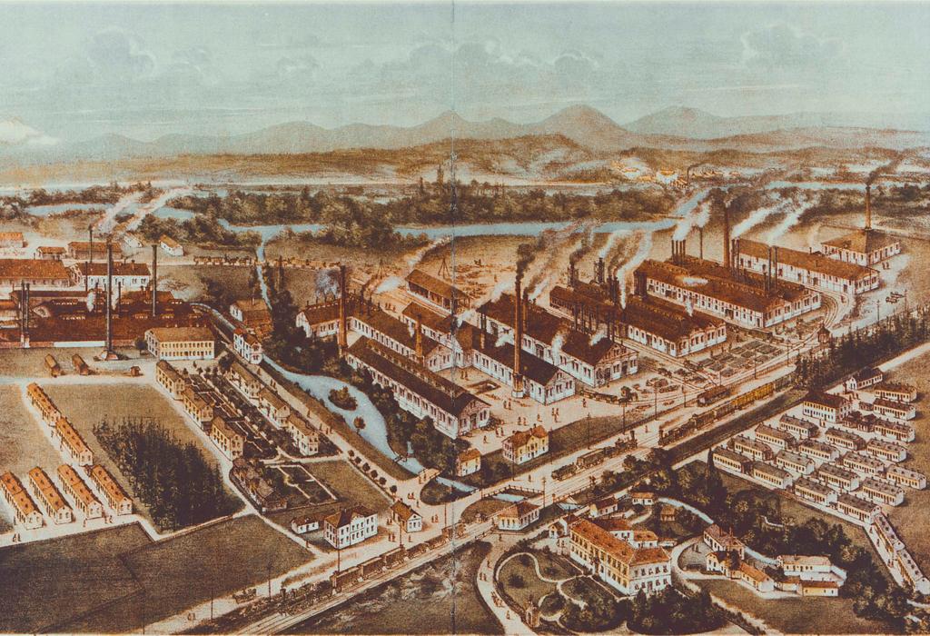 Auf dem Bild ist ein Teil des Schienenkartells zu sehen, dem sich auch das Stahlwerk Ternitz anschloss.