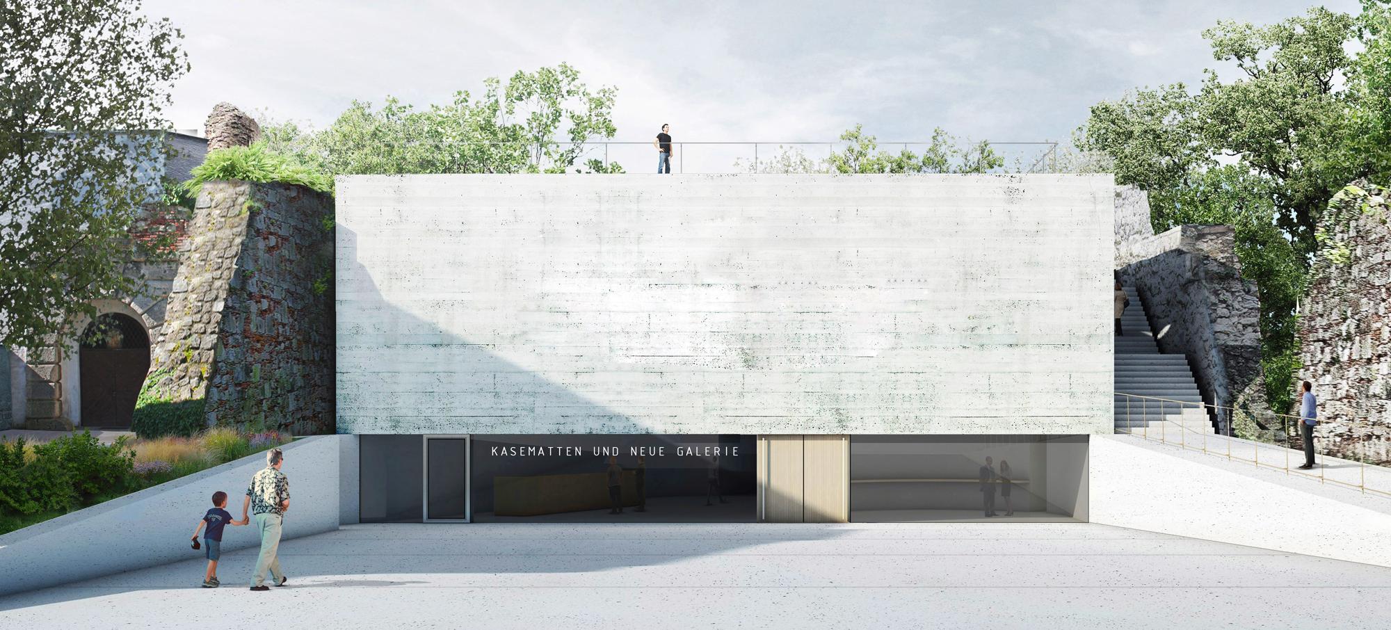 Ausstellungsstandort: Kasematten in Wiener Neustadt. © Bevk Perovic arhitekti